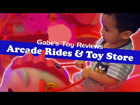 Arcade Rides and Toy Store Fun