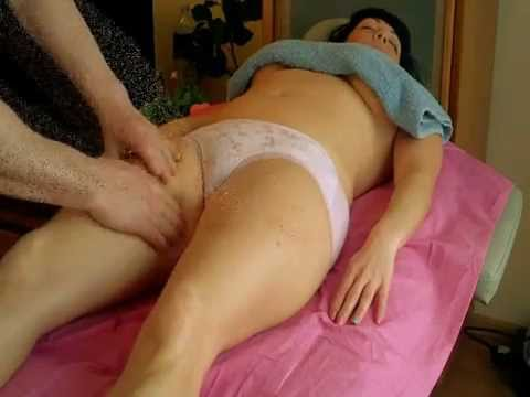 legs lymph drainage oil massage for lady - basic strokes