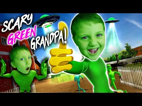 Scary Green Grandpa Alien 2 Weird Funny Game