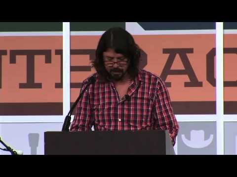 Dave Grohl South By Southwest (SXSW) 2013 Keynote Speech in Full