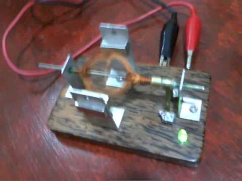 Small homemade electric motor very fast youtube for Small electric motor repair parts