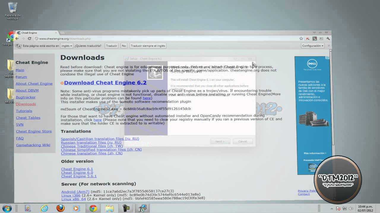 descargar el cheat engine 6.1 sin virus