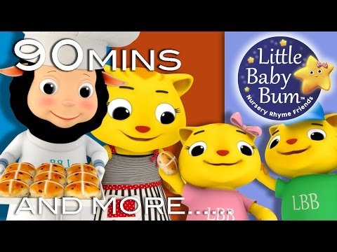 Hot Cross Buns   HUGE Nursery Rhymes Collection   90 Minutes From LittleBabyBum!