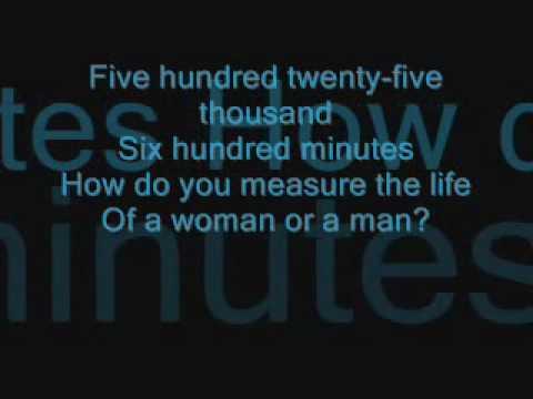 seasons of love with lyrics - YouTube