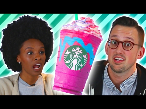 People Try The New Starbucks Unicorn Frappuccino