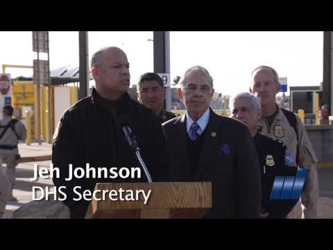 Jeh Johnson DHS Secretary visits McAllen Texas