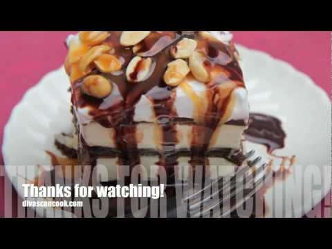 Snickers Ice Cream Sandwich Cake Recipe - snickers fagyi szendvicstorta recept