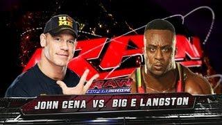 WWE RAW John Cena Vs Big E Langston Full Match WWE 13