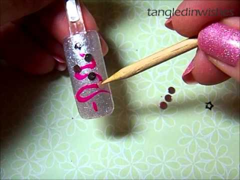 Nail Art For Beginners:  Pink Christmas Tree Tutorial