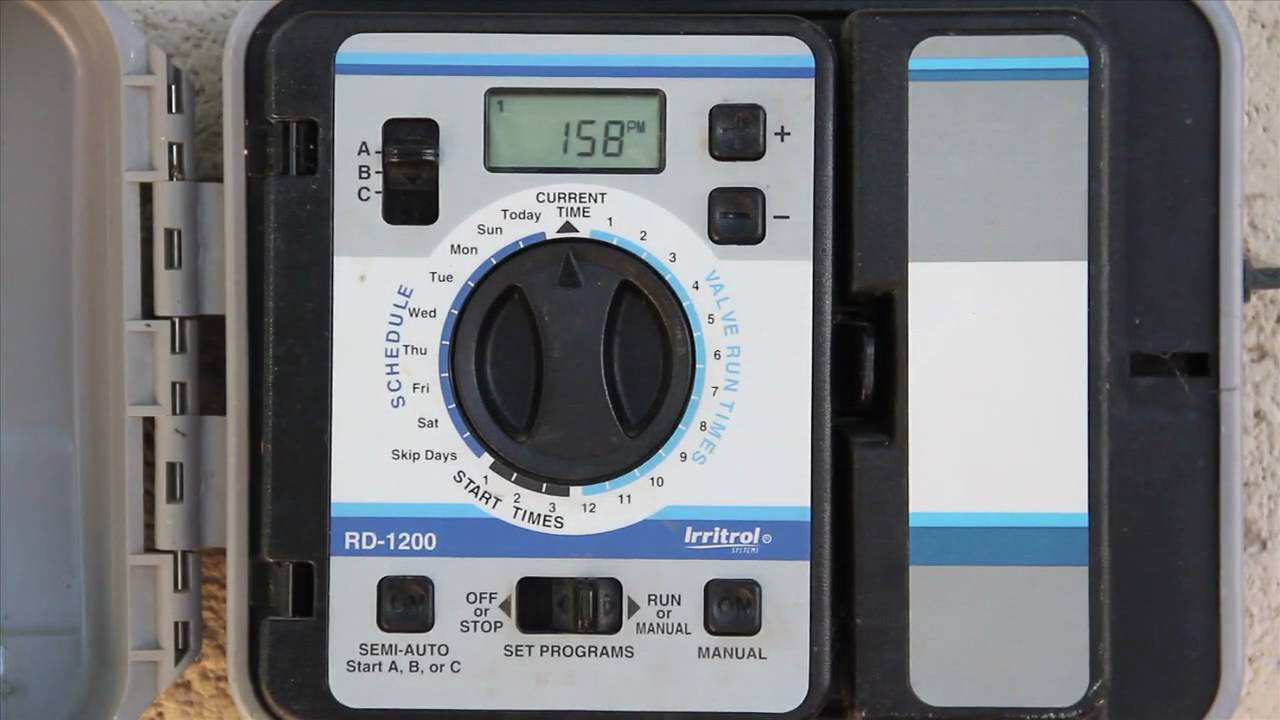 Rain dial irrigation timer