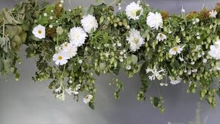 Suspended floral installation