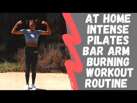 At home INTENSE Pilates Bar Arm BURNIN'  Workout    #gymshark