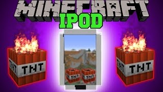 Minecraft: IPOD (USE APPS, CAUSE EXPLOSIONS, MUSIC, & MORE!) Mod Showcase