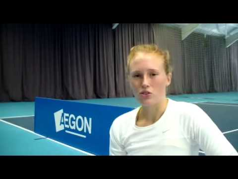 Anna Smith interviewed after winning the Aegon GB Pro-Series Loughborough
