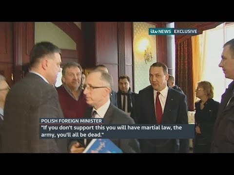 Ukraine protests: Polish minister Radoslaw Sikorski warns protest leader