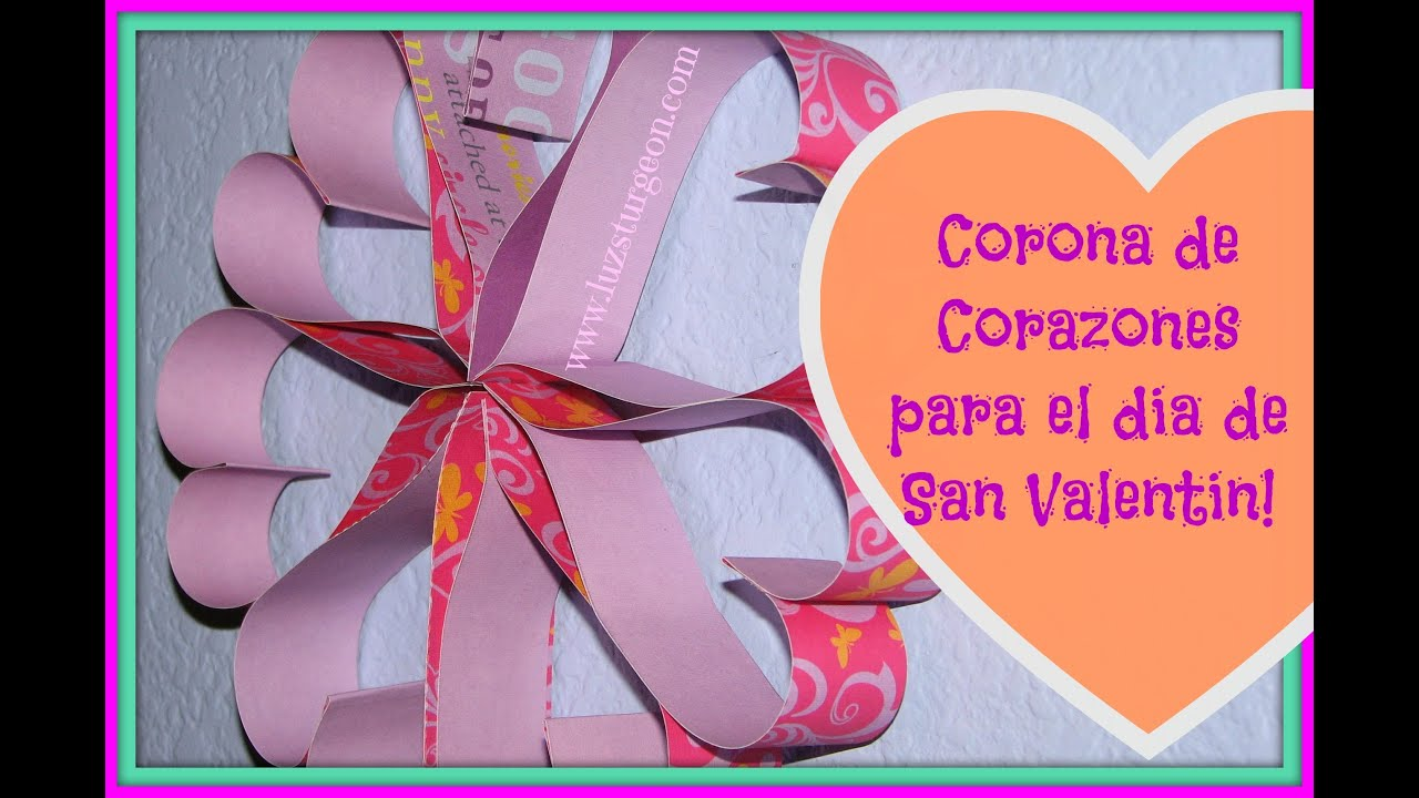 Salon De Clases Decorado De San Valentin ~   faciles para san Valent?n  corazones de papel  YouTube