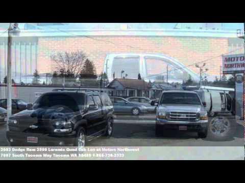 2003 Dodge Ram 2500 Laramie Quad Cab Lon, $17995 at Motors N