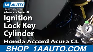 How To Install Replace Ignition Lock Key Cylinder Honda