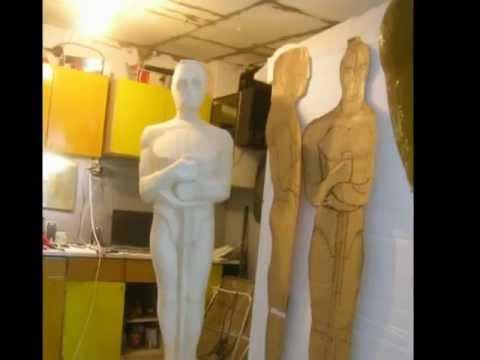 statuetki oskarów ze styropianu
