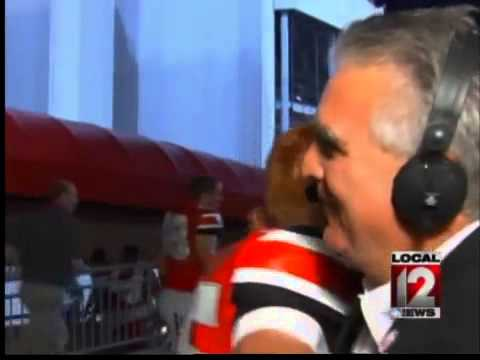 Grieving Sports Anchor Dom Tiberi With Onslaught Of Hugs (VIDEO