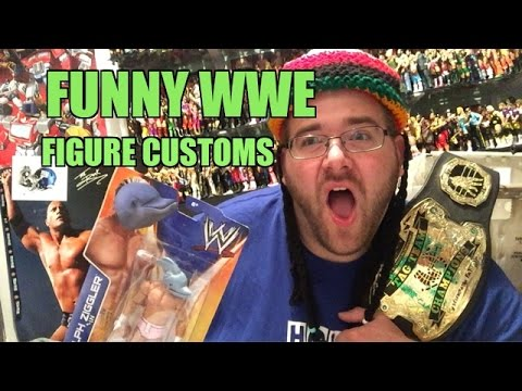 FUNNY WWE FIGURE CUSTOMS Fan Mail! Grim Unboxes GREAT GRABS!