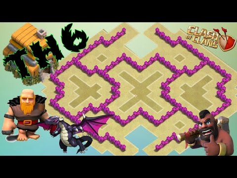 Th6 War Base 2016 Anti Giant ♦ Anti Dragon ♦ Anti Balloon ♦ Anti 2 Star
