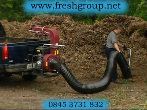 Vehicle Truck Mounted Bulk Leaf Litter Vacuum Video Youtube