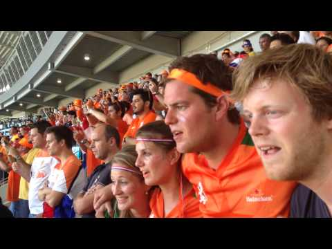 WK 2014 Nederland - Mexico Klaas Jan Huntelaar 2-1