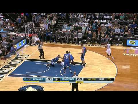 2013.10.30 NBA Minnesota Timberwolves vs Orlando Magic Ricky Rubio highlights