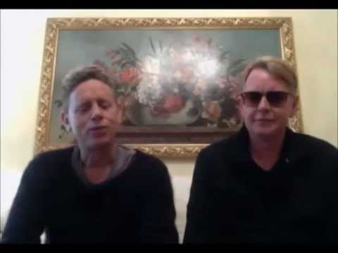 Martin Gore and Andy Fletcher greets Depeche Mode Fanclub Israel