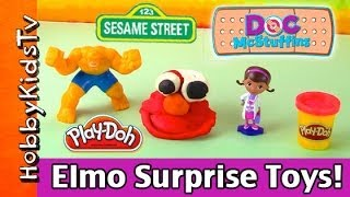 PLAY-DOH Elmo SURPRISE Toys! Doc McStuffins Helps