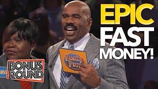 5 HIGHEST FAMILY FEUD USA Steve Harvey's Fast Money Scores! WOW ! Bonus Round