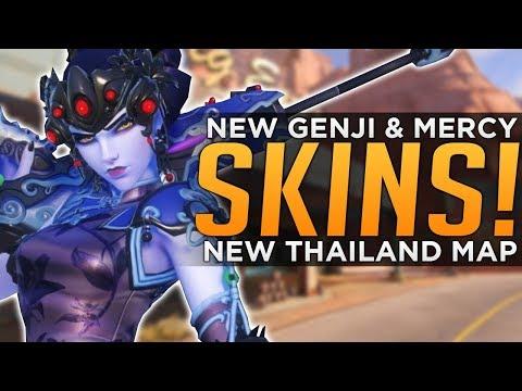 Overwatch: NEW Widow, Mercy & Genji SKINS Coming! - Thailand CTF Map!