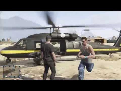 Grand Theft Auto V Helicopter Crash!