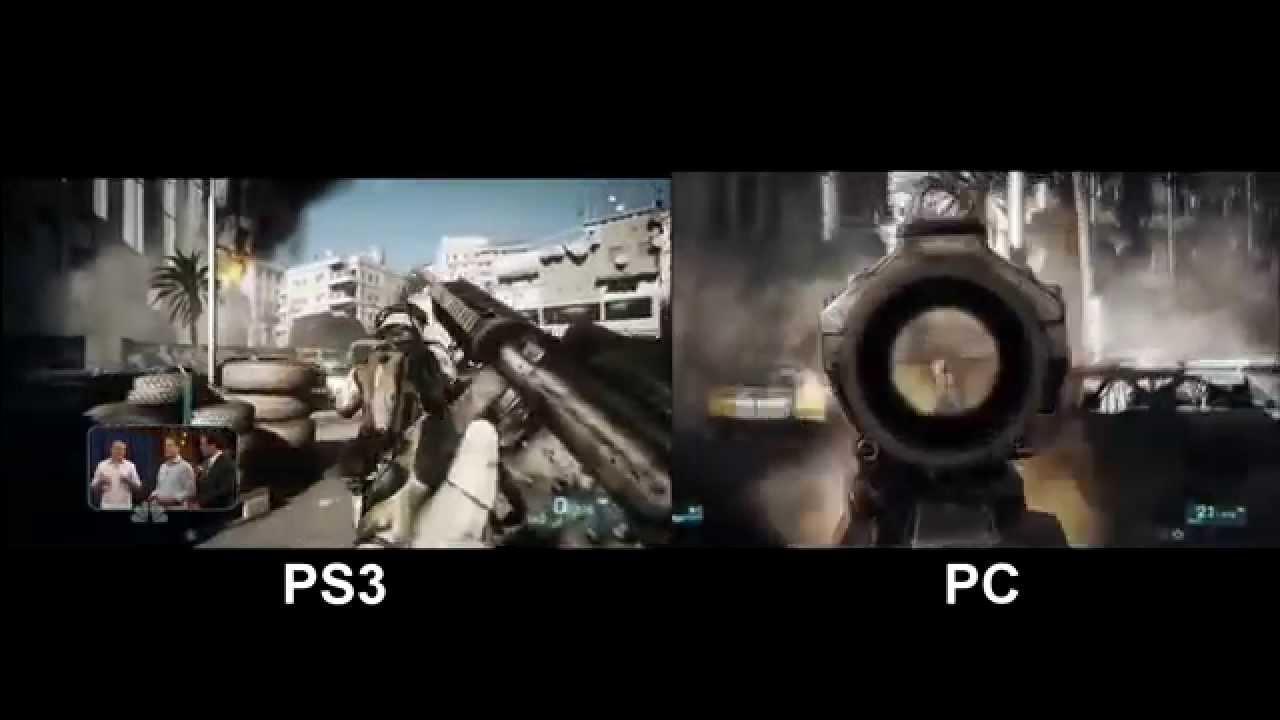 Battlefield 3 Gameplay PC vs PS3 Comparison - Full HD ...