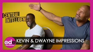 Kevin Hart & The Rock do hilarious impressions of each other & talk butts!