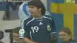 Debut De Lionel Messi En La Seleccion Argentina, Y Jugadas