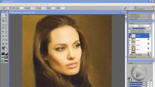 Angelina Jolie Photo Painting Corel Painter 11 Tutorial