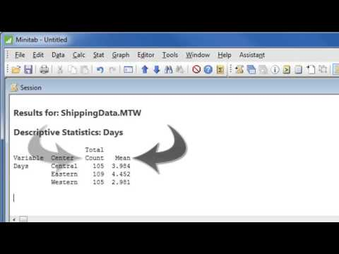 How to Analyze Data with Minitab 17