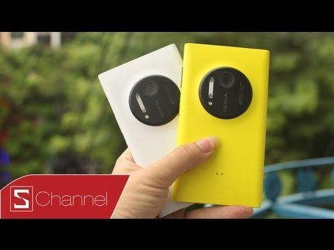 Xem Video Clip Schannel - Trên tay Lumia 1020 vàng, trắng - Video