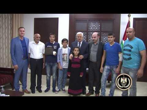 الرئيس يستقبل عائلة الشهيد محمود بدران