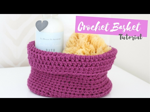 CROCHET: How to crochet an Oval based Basket   Bella Coco
