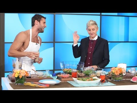 Naked Peruvian Chef Franco Noriega Heats Things Up with Ellen