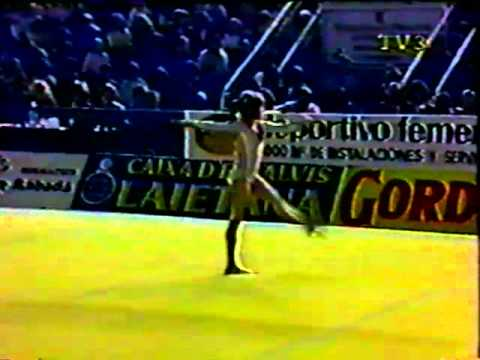 Daniela Silivas FX 1984 Blume Memorial gymnastics