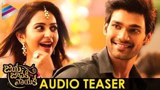Jaya Janaki Nayaka Movie Audio Motion Teaser | Rakul Preet | Bellamkonda Sreenivas | Pragya Jaiswal