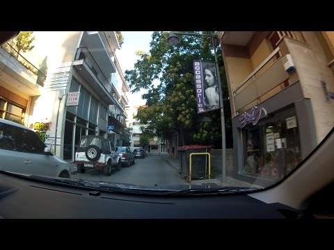 Driving in downtown Tripoli, Arcadia, Greece (city driving) - onboard camera