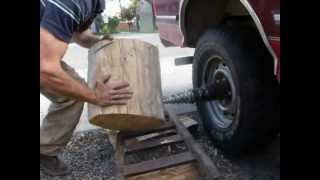 Truck Powered Wood Splitter