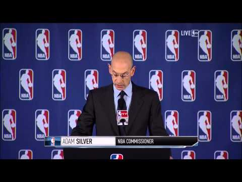 NBA commissioner Adam Silver gives Donald Sterling a lifetime ban, $2.5 Million fine