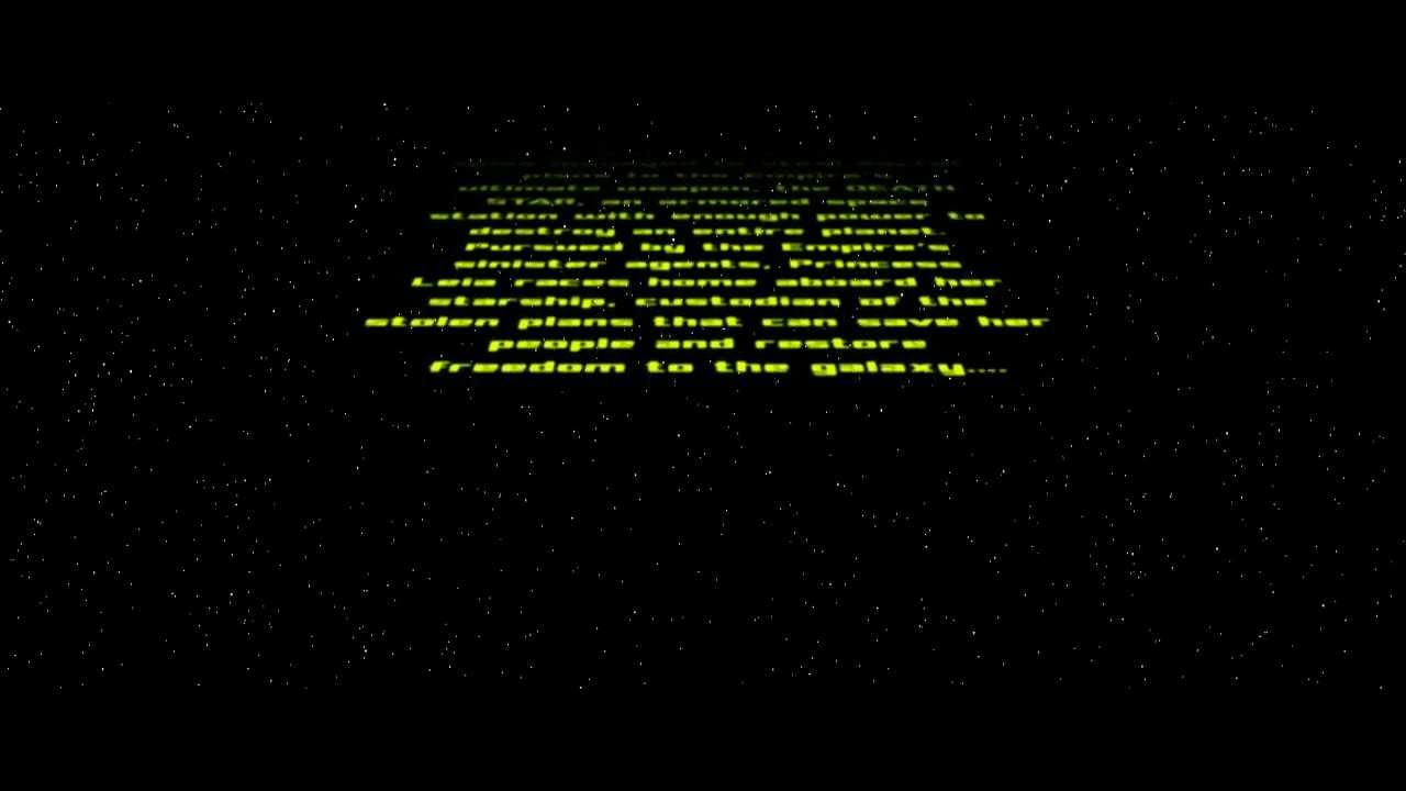 starwars crawl text free after effects project youtube. Black Bedroom Furniture Sets. Home Design Ideas