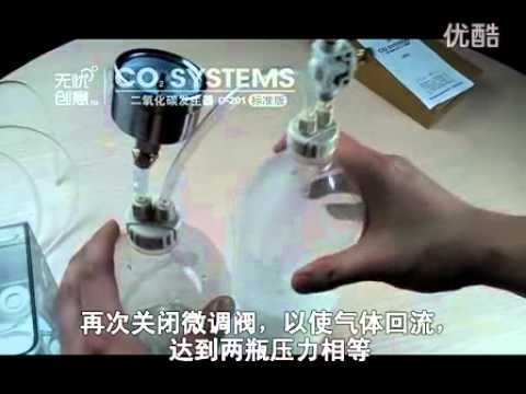 D201 DIY CO2 system with CO2 pressure guage with safety valve and brass check valve